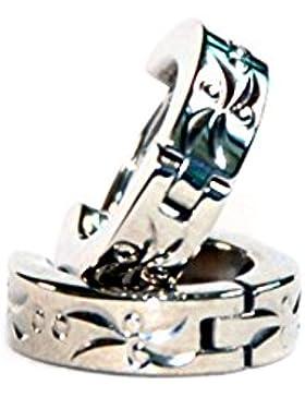 2 elegante Energetix 4you Magnet Ohr - Creolen - medizinischer Edelstahl / nickelfrei / allergiefrei - Ø 1,4 cm...