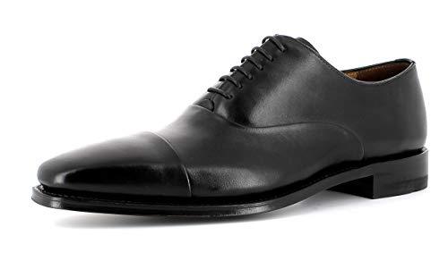 Gordon & Bros Herren Businessschuh, LUCQUIN 6048-A Männer Halbschuh,Schnürschuh,Derby Schnürung,Anzugschuh,Black,44 EU / 10 UK