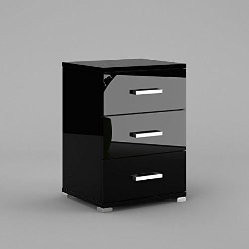 neli-n3-table-de-chevet-table-de-nuit-3-tiroirs-le-corps-noir-haute-brillance-le-front-noir-haute-br