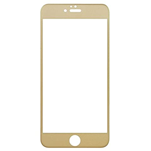 Crépuscule ® Couverture intégrale Film protecteur d'écran en verre trempé pour Apple iPhone 6/6S 3D incurvé pour une protection maximale en fibre de carbone (Dureté 9H iPhone 6 11,9 cm)