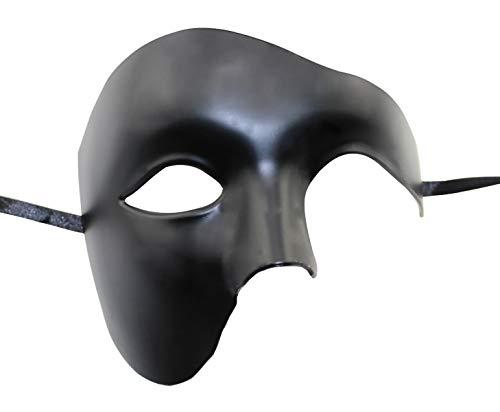 KEFAN Herren Maske Masquerade Maske Phantom der Oper Half Face Maske ()