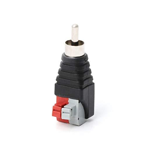 Schwarz + Rot + Grau Lautsprecherkabel A/V-Kabel für Audio-RCA-Stecker-Adapter Jack Led-Leuchten einfach professionelles Aussehen