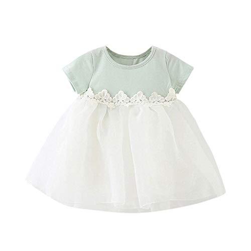 KIMODO Kleinkind Baby Mädchen Kleid Patchwork Süß Bogen Kleider Tüll Tütü Urlaub Festzug Prinzessin Party Sommerkleid Geburtstag Outfit Kleidung (Süßes Flapper Kleider)