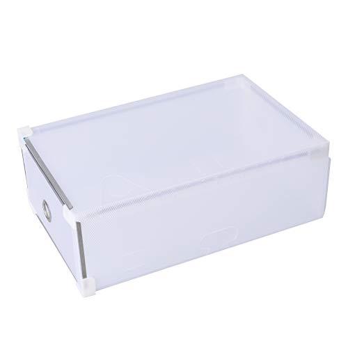 Yardwe 5 stücke Schuhe Box lagerung stapelbar Faltbare Hause schuhcontainer transparent büro Organizer für männer Frauen (Weiß) (Sneaker Box-speicher)