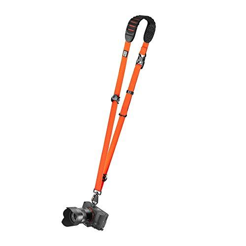 Blackrapid R-Strap Cross Shot Orange Kameragurt (Slinggurt, Tragegurt, Trageriemen) - z.B. für DSLR-Kameras, spiegellose Systemkameras oder Kompaktkameras (orange)