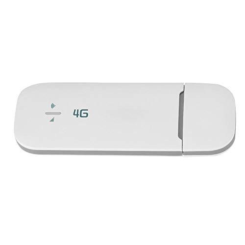 ASHATA LTE Surfstick USB Surfstick, LTE Surf-Stick USB Dongle 4G WiFi Router Wireless Netzwerk Hotspot,Tragbar High Speed 4G WiFi Dongle FDD/TDD Wireless Netzwerk Adapter mit SIM TF Karte Slot Weiß