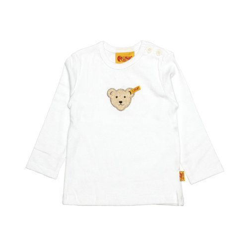 Steiff Unisex - Baby Bluse 0006811 T-Shirt 1/1 Sleeves, Weiß (bright white|white 1000), 116