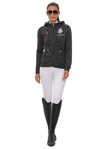 SPOOKS Damen Sweatjacke, Kapuzen-Jacke Mädchen Kinder Frauen - Awa Jacket Dark Grey XS - 2