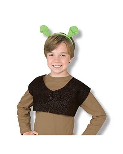 Kostüm Shrek Ohren - Shrek Weste und Ohren für Kinder