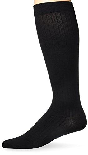 Activa H3462 Herren Mikrofaser Nadelstreifen Kleid-Socken 20-30 mmHg - Size & Color-Medium Schwarz (Herren-mikrofaser-kleid-socken)