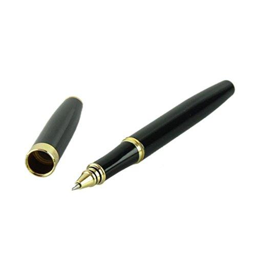 Huihong Hochwertige PersöNliche Briefpapier Kreative BüRo Stift Silber Und Goldenen Clip Roller Kugelschreiber Business & Schule Liefert (Schwarz)