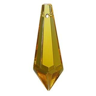 AMBROS® - Kristall Kristall Wiener Pendel 38mm Topaz ~ Honig Gelb K9 ~ Feng Shui Suncatcher