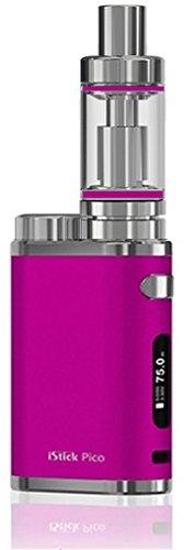 *Großer Tank* E-Zigarette Eleaf iStick Pico TC 75 Watt / MELO 3 Verdampfer 4ml Komplett Set, pink (ohne Akku)