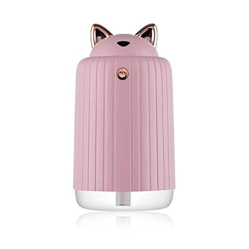 JFZJFZ Simpatico umidificatore per gatti Ultrasuoni Diffusore USB 300 ML Purificatore d'aria Deodorante per ufficio auto con luci a led Lampada ricaricabile@Ros