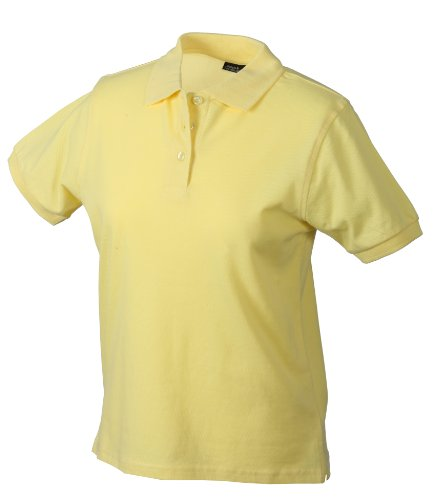 James & Nicholson Damen Poloshirt Ladies' Polo, Gr. X-Large, Gelb (gelb light-yellow)