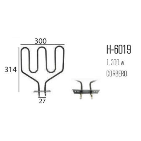 REPORSHOP - Resistencia Horno CORBERO Grill 220v Adaptable AEG ELECTROLUX ZANUSSI 1300W