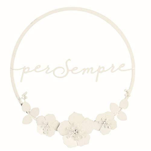 Cercle Métal 20 cm Blanc Pailleté pour toujours équipement romantique
