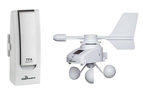 TFA Dostmann Weatherhub Weather Station Solar-Radio-Windemesser, SmartHome, vigilancia del clima...