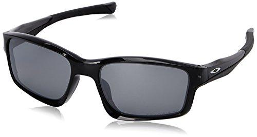 Oakley Herren Chainlink Sonnenbrille, Schwarz Black Iridium Polarized), 57
