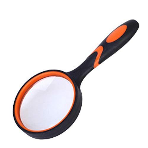 JTeam Hand Lupe Leselupe For Senioren & Kinder HD-Glasobjektiv For Das Lesen Von Insekten- Und Hobby Beobachtung Klassenzimmer Wissenschaft (Color : Black, Size : 50mm)
