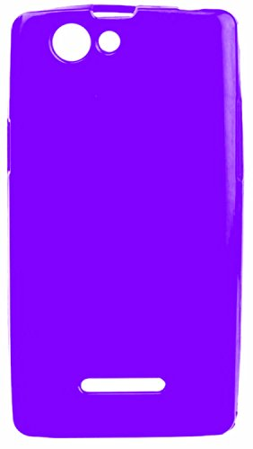 iCandy™ Colourful Thin Soft TPU Back Cover For Xolo A500S - Purple  available at amazon for Rs.160