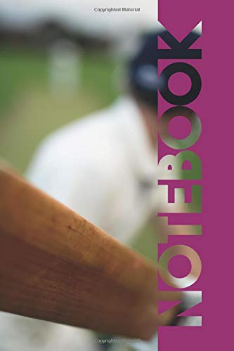Notebook: Cricket Bat Colorful Composition Notebook for Fast Bowlers por Molly Elodie Rose