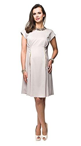 Elegantes Umstandskleid, Abendkleid, Brautkleid, Hochzeitskleid für Schwangere, Modell: Mirabel, Cappuccino