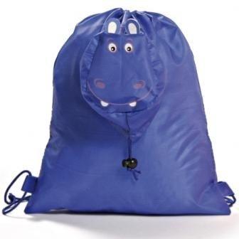 disok Faltbarer Rucksack ANIMALS blau-Rucksäcke, Schulen, Kindergärten, günstige Geschenke Tüten für Kinder Weihnachten