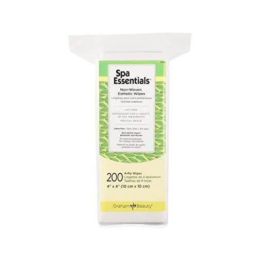 Graham Spa Essentials Nonwoven Esthetic Wipes 4 X 4, 200 Count (CASE) by GRAHAM ESSENTIALS - Graham Spa