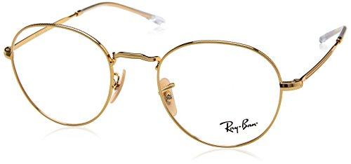 Ray-Ban Unisex-Erwachsene 0RX 3582V 2500 49 Brillengestelle, Gold