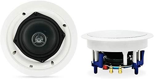 Herdio 5,25 Zoll 2-Wege Bluetoothlautsprecher Deckenlautsprecher Einbaulautsprecher mit Bluetooth, 1 Paar Boxen (2 Speaker), Farbe: weiß, Decken-Einbaulautsprecher, Einbauboxen
