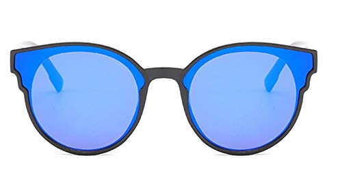 Epinki Damen Polarisierte Sonnenbrille Sonnenbrille UV400 Schutz Retro Brille | Vollrand | für Outdoor Sport, Reise - Schwarz Blau