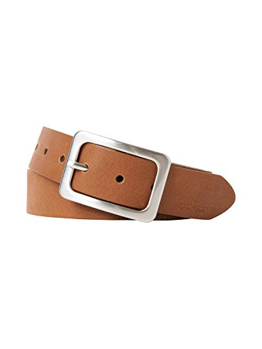 TOM TAILOR Frauen Belts klassischer Leder-Gürtel Gr:-85 EU, Farbe:-Cognac
