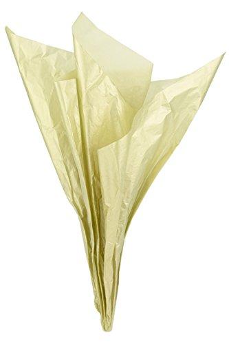 FiveSeasonStuff 50 Stück Großen Gold Seidenpapier, Geschenkpapier / Packpapier, 66cm x 50cm (26 x 20 inches)