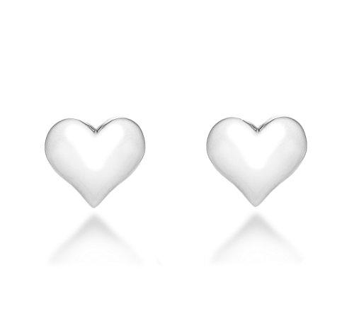Tuscany Silver Ohrstecker Sterling Silber Aufgeblasen Herz Preisvergleich