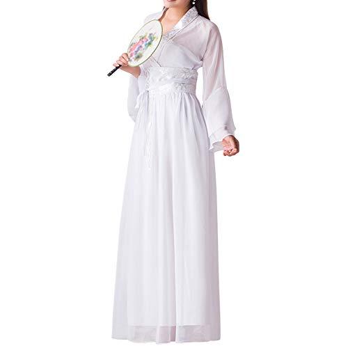 Tenthree Mädchen Chinesisch Antike Fee - Frauen Chinesisch Stil Retro Hanfu Elegant Traditionell Prinzessin Aufführungen Kostüm Tanz Kleid Chiffon ()