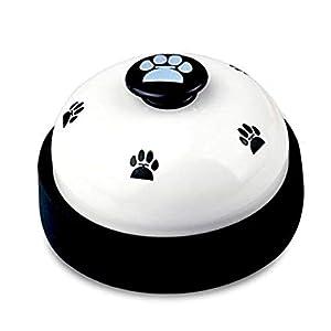 Nicedeal Chien de Dressage de clochettes grelots pour appareil d'apprentissage de la propreté et de communication pour animal domestique Jouets interactifs Empreinte clochettes pour chien Blanc