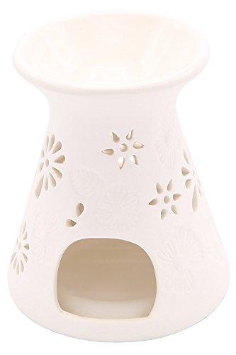 Candle-lite - Teelicht Duftlampe, Riet, Weiß, 10 x 10 x 10.5 cm