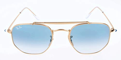 Ray-ban 0rb3648 001/3f 51 occhiali da sole, oro (gold/clear gradient blue), unisex-adulto