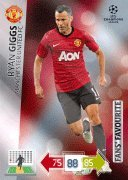 Champions League Adrenalyn XL 2012/2013 Ryan Giggs 12/13 Fans Favourite [Toy] -