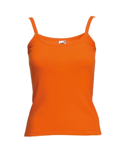 Fruit of the Loom - T-shirt -  Femme Orange