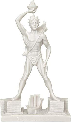 Statue Koloss von Rhodos Gott der Sonne Helios (Alabaster Skulptur 30cm) / Colossus of Rhodes God of Sun Helios (Alabaster Sculpture 30cm) (Koloss-statue)