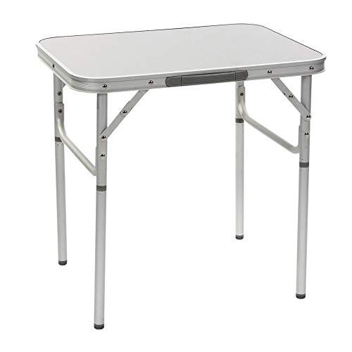 Aluminium Campingtisch Alu leicht stabil rostfrei Zusammenklappbar Platzsparend, für Indoor und Outdoor zum Zelten mit Teleskopbeinen, Betttisch Hochwertiger Klapptisch mit Griff Tischbeine klappbar. - Klapptisch Griff