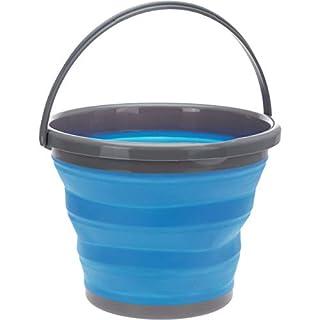 AiO-S - OK Campingeimer 10 L Putzeimer blau Wassereimer rund faltbar Kunststoff ausstülpbar