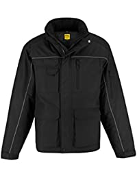 B&C Collection Men's Waterproof Windproof Concealed Hood Heavy Pro Jackets S-3XL