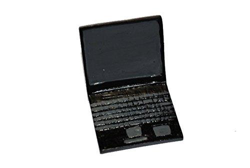 Preisvergleich Produktbild Laptop Miniatur für Puppenstube Puppenhaus Maßstab 1:12 2,6 cm PC Computer