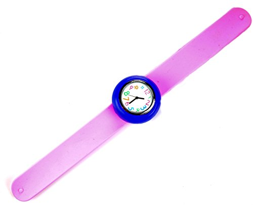 slap-watch-light-pink-blue-fun-easy-to-read-watch-for-kids-gift-watches