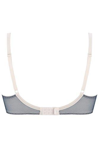 Gaia 579 Dakota Soft BH Damen Unterwäsche Stickerei Gemustert Regulierbar Top Qualität Setteil EU Beige-Blau