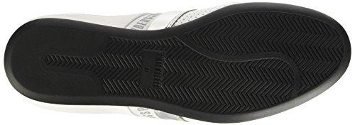 Bikkembergs Springer 99 L.Shoe M Leather, Pompes à Plateforme Plate Homme, Noir Blanc Cassé (Bianco)