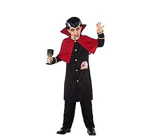 Atosa-55624 Atosa-55624-Disfraz Vampiro para niño Infantil-Talla, Color negro 7 a 9 Años (55624